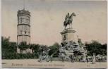 AK Duisburg Kaiserdenkmal auf dem Kaiserberg mit Kanone 1909