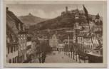 AK Weinheim an der Bergstraße Marktplatz mit Burg Wachenburg und Windeck 1920
