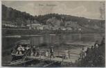 AK Trier Moselfähre mit Menschen 1909