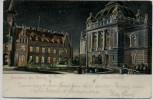 AK Rendsburg das Abends Stadthalle bei Nacht 1906