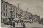 AK Koblenz Rheinzollstraße mit Straßenbahn und Hotel zum Riesen-Fürstenhof 1915