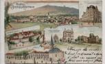 AK Bistritz am Hostein Bystřice pod Hostýnem Schule Hotel Markt Tschechien 1900 RAR