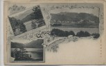 AK Gruss aus Kiefersfelden Eglsee Hechtsee Ortsansicht 1900