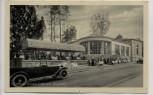 AK Bad Hall Trinkhalle Terrasse Cafe Lauf mit Auto 1930