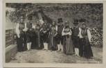 AK Foto Montafonertracht Gruppenbild Montafon Tracht Schruns Vorarlberg Österreich 1925