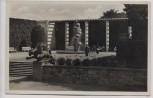 AK Foto Essen Grugapark Vorplatz mit Leuchtbrunnen 1935