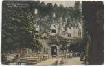 AK Alte Burg Fürstenstein Restauration im Burghof b. Waldenburg Wałbrzych Schlesien Polen 1910