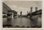 AK Foto Marienburg Malbork Die Nogatbrücken mit Buttermilchturm Westpreußen Polen 1935