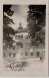 AK Foto Mährisch Schönberg Šumperk Kirche und Innenhof Sudetengau Tschechien 1944