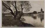 AK Foto Hameln an der Weser Ortsansicht mit Eisenbahnbrücke 1930