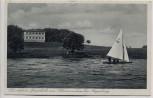 AK Angerburg Węgorzewo Gästeheim Jägerhöhe am Schwenzaitsee mit Segelboot Ostpreußen Polen 1934