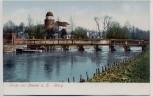 AK Gruss aus Lenzen an der Elbe Burg mit Brücke 1904