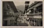 AK Foto Zell am See Straßenansicht mit Hotel Lebzelter Österreich 1939