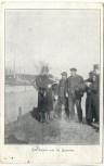 AK Feldpost 1.WK Auf Kanal von St. Quentin 1915
