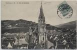 AK Freiburg im Breisgau mit Blick auf Schlossberg 1911