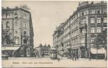 AK Mainz Hotel Pfeil und Mainzerhof Blick nach dem Hauptbahnhof Strassenbahn 1906 RAR