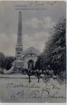 AK Darmstadt Alicen-Monument und kath. Kirche mit Pferdekutsche 1906
