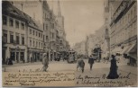 AK Erfurt Anger mit Menschen und Straßenbahn 1904