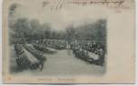 AK Lehe Englischer Garten Deutsch-französische Marine-Commers b. Bremerhaven 1899 RAR