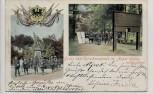 AK Gruss vom Scheibenstande im Aaper Walde 39 er Denkmal mit Wappen bei Düsseldorf 1901