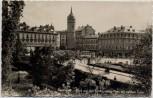 VERKAUFT !!!   AK Foto Darmstadt Blick auf den Ernst Ludwig-Platz mit weißem Turm Feldpost 1940