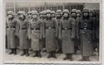 AK Foto Oppeln Stefanshöh Opole Soldaten mit Stahlhelm und Koppel Handschuhe Winter Schlesien Polen 1940 RAR