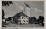 AK Foto Stetten am kalten Markt Partie bei der Kirche Feldpost 1943