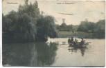 AK Oberhausen Partie im Kaisergarten mit Boot 1906