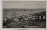 AK Foto Nordseebad Juist Strandpartie mit Cafe Pabst und Fahnen 1936 RAR