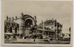 AK Schwerin Hauptbahnhof Landpoststempel Rampe 1954