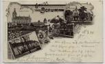 AK Gruss aus Berum Schloss Nordeck Amtsgericht Jagdschloss b. Hage 1898