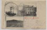 AK Gruss vom Rothstein Turm mit Restaurant b. Sohland am Rotstein 1901