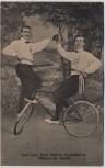 AK Mülsen St. Jacob Kunstfahrer Rad Max Lau Kurt Müller 1920