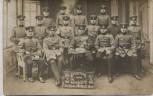AK Foto Zwickau Gruppenbild Soldaten Ausbildung 4. Korp. 12. Komp. 181. Regt. 1914