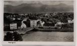 AK Foto Rosenheim Ortsansicht mit Brücke 1930