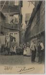 AK Alt Hamburg De scheebe Stebel mit Menschen 1908