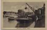 AK Mannheim Mühlau Hafen Hafenkran Schiff Kehl 1920