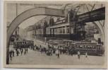 AK Wuppertal Schwebebahn Barmen Elberfeld Vohwinkel Am Kaiserplatz 1920