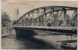 AK Elsterwerda Elsterbrücke mit Menschen 1913