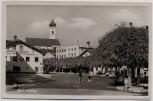 AK Foto Bad Aibling Ortsansicht mit Kirche und Geschäft Bürger 1940