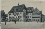 AK Heilbronn am Neckar Marktplatz mit Rathaus und Ratskeller 1910