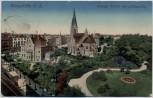 VERKAUFT !!!   AK Königshütte Chorzów Evangl. Kirche mit Hüttenvilla Schlesien Polen 1916