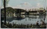 AK Bad Liebenzell Ortsansicht mit See und Menschen 1910