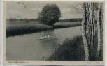 AK Wusterhausen Partie an der Dosse mit Ruderboot 1935