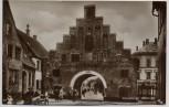 AK Foto Flensburg Nordertor mit Menschen 1928