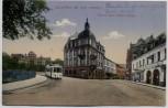 AK Neustadt an der Haardt Partie beim Hotel Löwen Neustadter Bier-Halle und Straßenbahn 1917