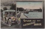 AK Gruss aus dem Ostseebad Laboe Auto Strand Feldpost 1914 RAR