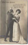 AK Foto Mann und Frau tanzend Hupf, mein Mädele ! Gedicht 1911