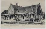 VERKAUFT !!!   AK Gruss aus Bad Zwischenahn Bahnhof mit Menschen 1910 RAR