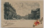 Präge-AK Gruss aus Zweibrücken Maxstrasse mit Wappen 1899 RAR